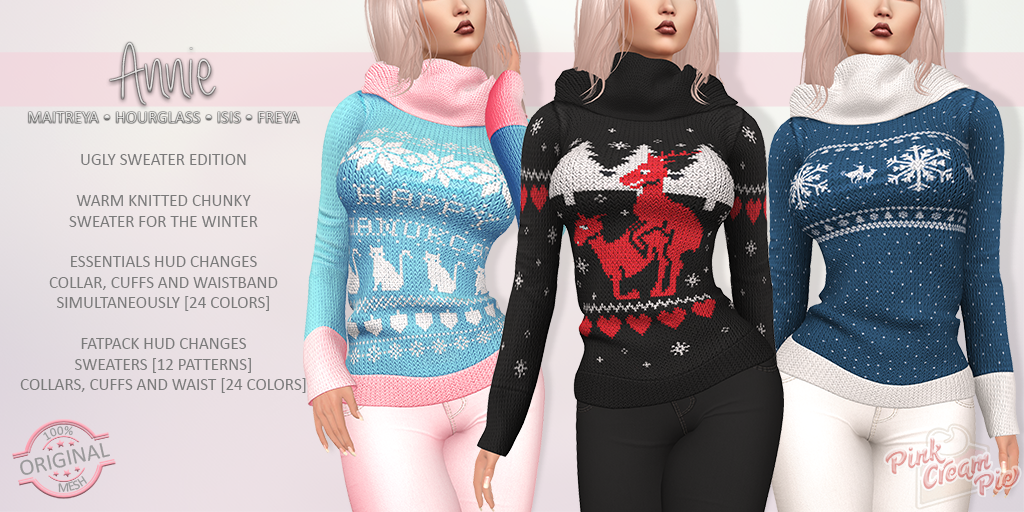 NEW RELEASE :: ANNIE SWEATERS
