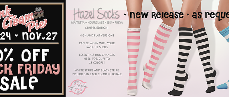 NEW RELEASE FOR BLACK FRIDAY :: HAZEL STRIPE SOCKS